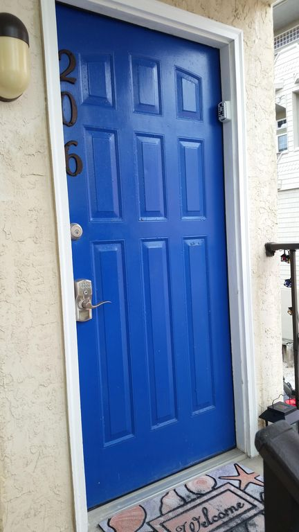 Front Door With Keyless Entry.