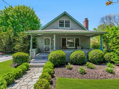 Photo for Beautiful Greenport Village home w/ POOL! Steps from Bay Beach!