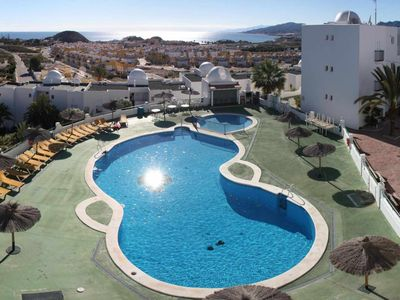Photo for Estrelitzia, apartment with panoramic sea view and shared swimming pool