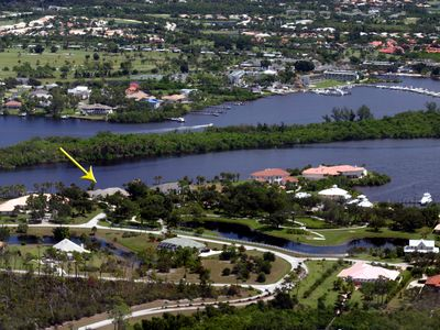 Photo for 4BR waterfront home with heated pool/spa. Club Med access