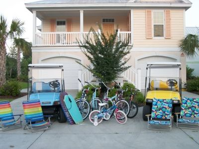 Photo for 5 BR/4.5 BA, Golf Carts, Bikes, Linens, Beachfront Community
