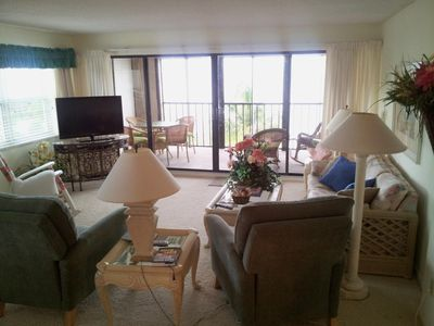 Photo for Comfy and Charming Gulf Front Condo- Many Summer Weeks Available