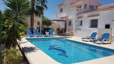 Photo for beautiful holiday villa, free-standing with private pool, garden, 500m to beach