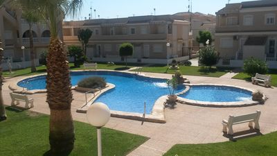 Photo for Stylishly Furnished first floor apartment with Wifi, overlooking the pool.