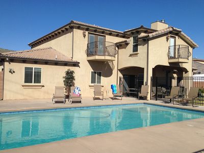 Photo for PRIVATE POOL 34'x18', 25 Minutes to Zion,  Playset for Kids, 7 bdrm, sleeps 32