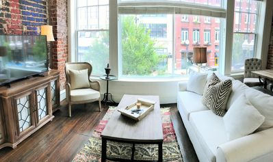 Photo for French Farmhouse styled loft directly on Gay Street in Knoxville's Old City!