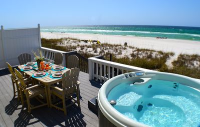Photo for A View to Sea! West End! Sleeps 14! Hot Tub!