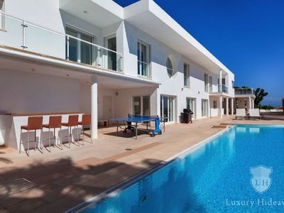 Photo for Luxury villa with pool and fantastic sea views and large outdoor terrace and BBQ