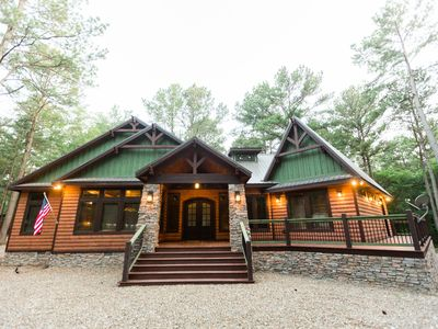Photo for Lasso the Moon;Family-Friendly 3 BR, 3.5 Bth Cabin! Game Room,Hot Tub, Fire Plc
