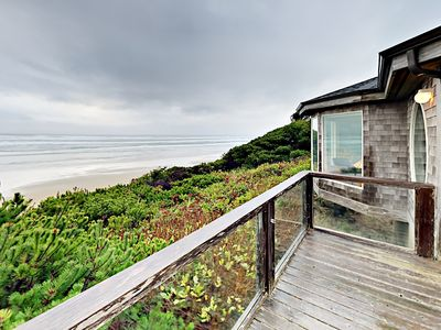 Photo for Stunning Oceanfront 3BR w/ Fire Pit, Fireplace & Balcony - Steps to the Beach