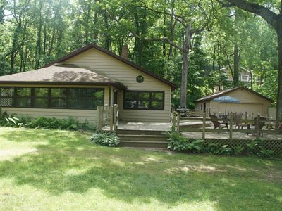 Photo for SW Michigan Home w/access to private Lake Mill near S.Haven and Kzoo