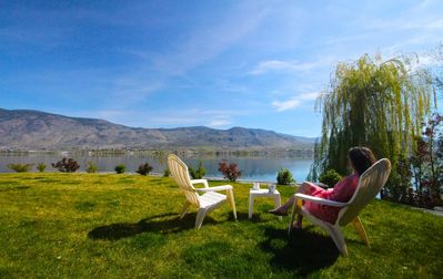 Photo for Lakefront Home. Private Beach and Dock on Osoyoos Lake.
