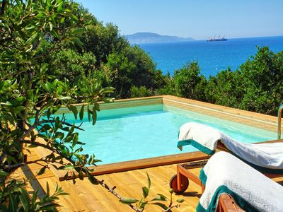 Photo for Stunning private villa with WIFI, A/C, private pool, TV, terrace, panoramic view and parking