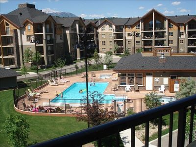 This is a third floor unit and THIS IS YOUR VIEW! Pool is open 10-10.
