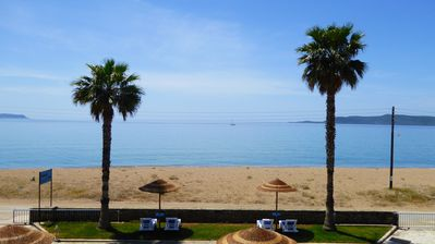 Photo for Holidays at the wonderful Anemomilos Beach, Finikounda. You hear the ocean. . .
