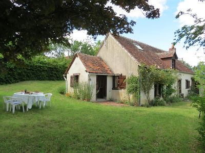 Photo for Detached stone house set in just over half an acre of gardens with private lake