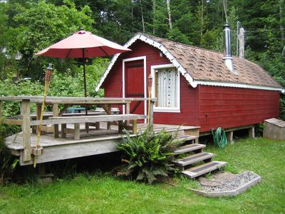 Photo for KEMA  Hornby Island - Cabin - across the road from our property waterfront acces