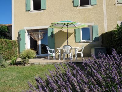 Photo for Canal-Side Villa with Sunny Garden & Shared Pools overlooking local Vineyards