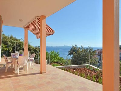 Photo for One bedroom apartment with terrace and sea view Zavalatica, Korčula (A-11216-c)