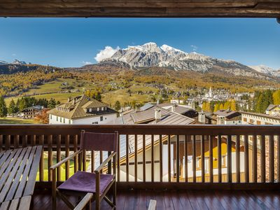 Photo for Large apartment with SPECTACULAR VIEW across Cortina
