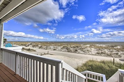 Look forward to memorable beach days at this vacation rental townhome!