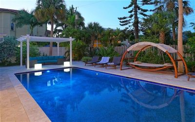 Photo for Beach Therapy!  Sophisticated updated modern pool home near Lido Key on St. Armands sleeps (11).