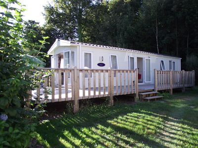 Photo for On the door step of Quimper, a luxury mobile home on the 5* park at L'Orangerie.