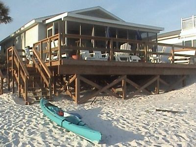 Photo for Comer Beach House.(Inlet) Beachfront. Great fall rates. No hurricane damagege