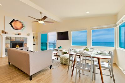 Enjoy spectacular ocean views from this newly decorated home.