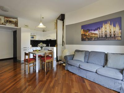 Photo for Spacious Lodovico il Moro apartment in Centro Storico with WiFi, integrated air conditioning & lift.