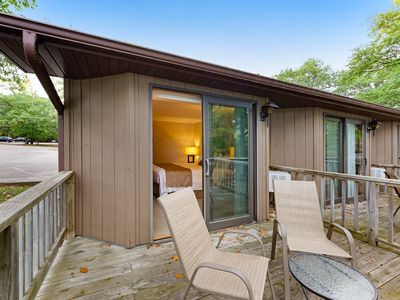 Photo for Dog-friendly studio w/ private deck, lake views & shared tennis/boat docks!
