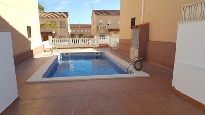 Photo for JULIO MAGNIFICENT CHALET OFFER 5 'FROM THE BEACH WITH POOL, TERRACE AND FREE WIFI