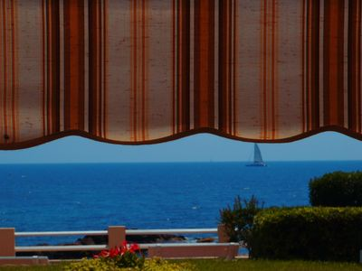 Photo for studio ground floor- loggia- sea view- feet in the water