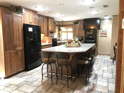 Large kitchen with state-of-the-art appliances