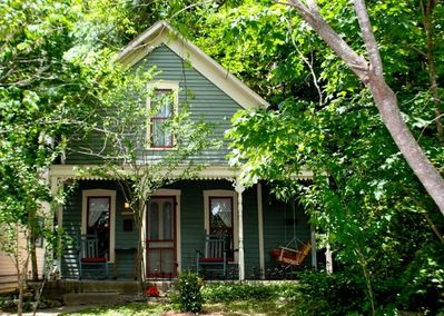 Charming front porches in the most desirable area of downtown Eureka Springs