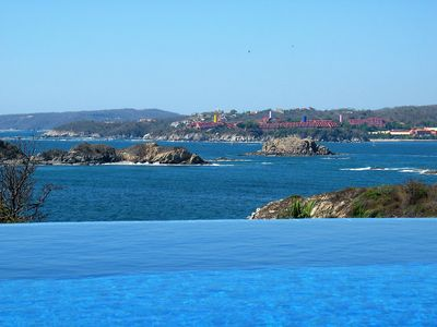 Beautiful ocean view from the private infinity pool.