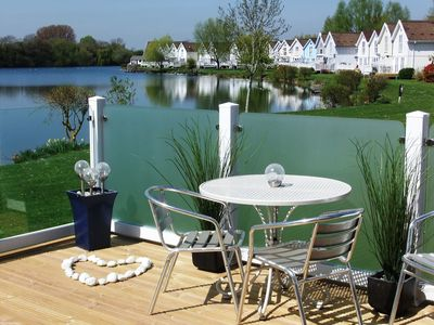 Photo for Lovely New-England Style Lodge with Stunning Lake Views