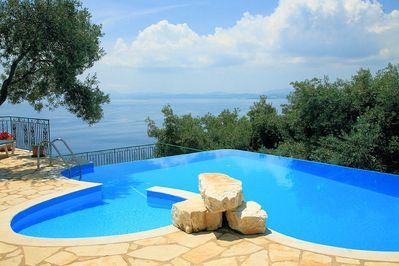 Private pool with sea views