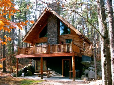 """Photo for """"Wildwood in the Pines"""" - Unique Adirondack Log Cabin - High Peaks"""