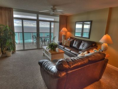 Photo for Great ocean front view from this 3 bedroom condo in the heart of NMB! | Crescent Keyes - 1205