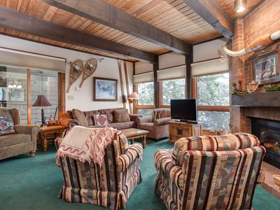 Photo for Rustic Mountain Condo - Easy Access to Summer Fun Trails/Activities 250 YDs Away