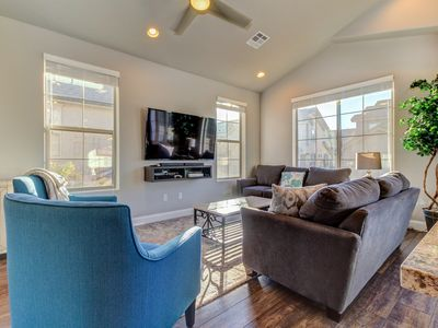 Photo for NEW LISTING! Gorgeous townhome w/shared pool & hot tub - dogs OK, near Zion