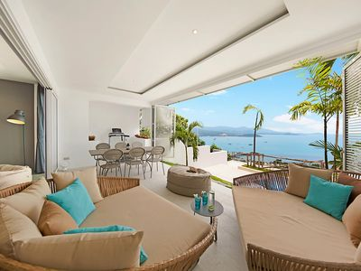 "Photo for Refined living ""Above it all"" Sunset & Ocean Views over looking Bangrak Bay"