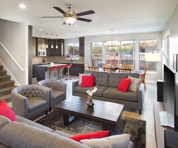 Photo for Spacious Luxury 4 Bedroom Town Home in town, Pool, Hot tub & 3 free townie bikes