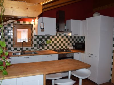 Photo for @ Parco Adamello Brenta - Beautiful attic with balcony, BBQ, dishwasher and PKG