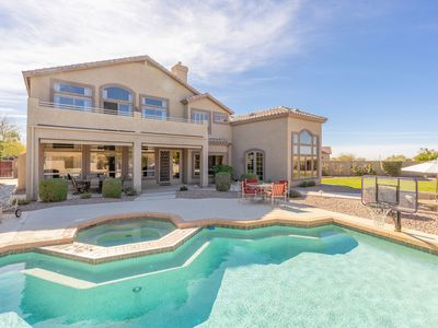 Photo for Exquisite Las Sendas Desert Getaway - Backyard Oasis w/ Heated Pool & Hot Tub
