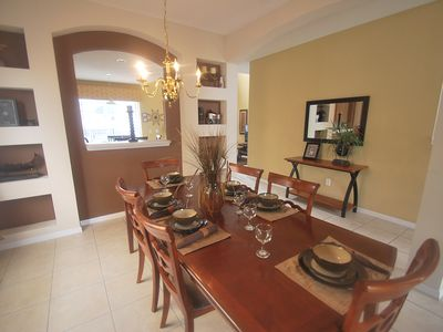 Photo for Beautiful 7BR/4.5BA Villa (3 Kings 2 Queens) Pool & Great View, 10 Min to Disney