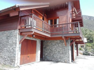 Photo for Chalet full south, 8/9 people 5 'tracks and all amenities