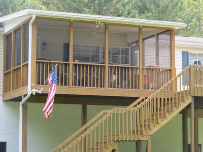 Photo for River Front Views w/Screen Porch, Deck, Wifi, Pet Friendly, Fire Wood