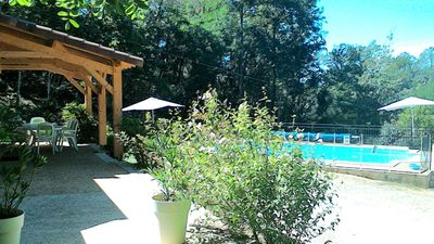 Photo for Near Sarlat, charming Perigord house 8 people with heated pool
